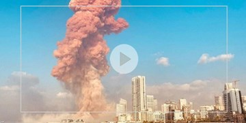 ویدئوی آهسته لحظه  انفجار در بیروت