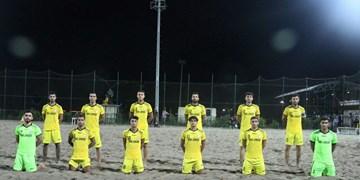 برتری پابرهنههای بوشهری در گام اول فوتبال ساحلی