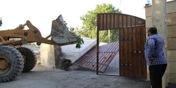 آزادسازی 157 هکتار از اراضی تغییر کاربری یافته در چهارباغ البرز+عکس