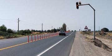 جاده اک-تاکستان مرمت و ایمن سازی شد
