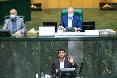 سخنرانی حسین مدرس خیابانی سرپرست وزارت صمت در جلسه علنی مجلس ۲۲ مرداد ۹۹