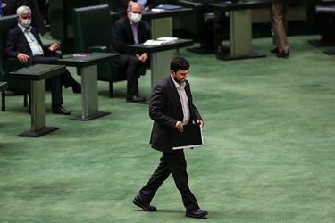 حسین مدرس خیابانی سرپرست وزارت صمت در جلسه علنی مجلس ۲۲ مرداد ۹۹