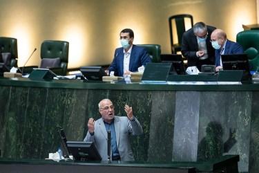 سخنرانی حسینعلی حاجی دلیگانی نماینده مردم شاهینشهر، میمه و برخوار به عنوان مخالف وزیر پیشنهادی رئیس جمهور