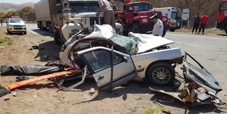 تصادف با پژو جان 3 سرنشین پیکانبار را در جاده یاسوج- اصفهان گرفت