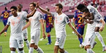 یک چهارم نهایی لیگ قهرمانان اروپا| تحقیر تاریخی بارسا در لیسبون/ طوفان مونیخیها و صعود به نیمه نهایی