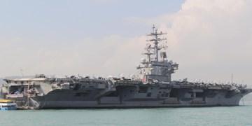 تمرین نظامی ناو هواپیمابر آمریکا در دریای چین جنوبی
