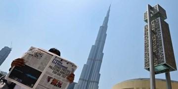 ویدئو | گزارش علنی خبرنگاران صهیونیست در برابر برج خلیفه دُبی برای اولین بار