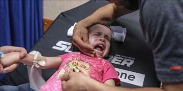 برخورد ترکش به صورت دختربچه فلسطینی در حمله هوایی صهیونیستها