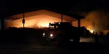 آتشسوزی  گسترده در دامداری بخش جوادآباد خسارتی به احشام وارد نکرد
