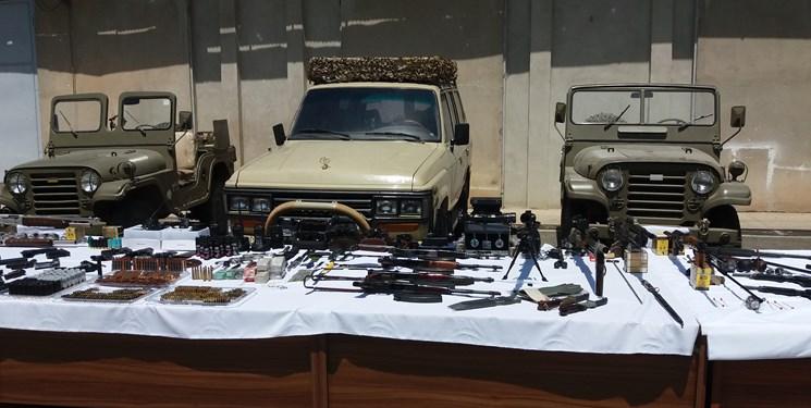 ضربه وزارت اطلاعات به باند بزرگ قاچاق سلاح و مهمات در استان البرز + فیلم