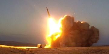 تصاویر تست و شلیک موشک بالستیک «حاج قاسم» با برد ۱۴۰۰ کیلومتر