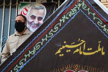 تشییع پیکر شهید مدافع حرم در کرمان