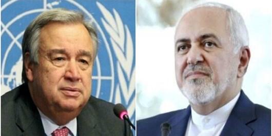ظریف در نامهای به گوترش: خرابکاری رژیم صهیونیستی در نطنز، تروریسم هستهای و جنایت جنگی است