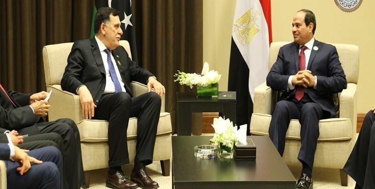 رئیس دولت وفاق ملی لیبی با رئیس جمهور مصر تلفنی گفتوگو کرد