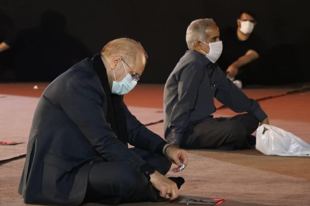 13990601001370 Test NewPhotoFree - حضور رئیس مجلس در مراسم عزاداری امام حسین(ع) در سفارت سابق امریکا
