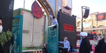 کمک مؤمنانه محرم از حرم امامزاده صالح(ع) آغاز شد+فیلم
