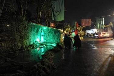 عکس  حال و هوای شهر لاهیجان در ماه محرم به روایت تصویر