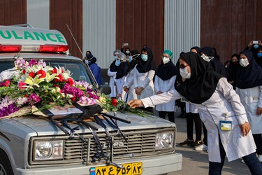 تشییع نخستین شهید مدافع سلامت لامرد