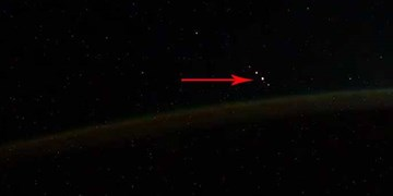 شکار شفق قطبی زمین توسط فضانورد روس