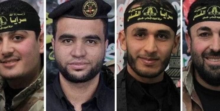 جهاد اسلامی فلسطین از شهادت چهار نیروی خود خبر داد