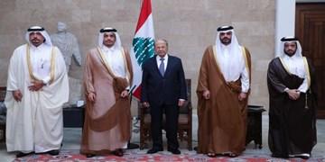 دیدار وزیر خارجه قطر با مقامات لبنانی در بیروت