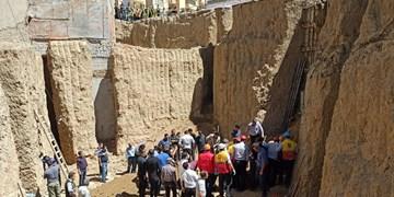 ریزش آوار در منطقه حصیر آباد اهواز+فیلم