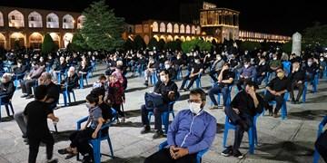 مراسم عزاداری هیأت رزمندگان اسلام در میدان امام