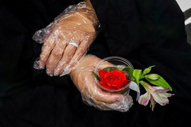 روز ششم ماه محرم به نام حضرت قاسم پسر امام حسن مجتبی(ع)، نوجوان شهید سیزده ساله دشت نینوا، نامگذاری شده است به همین علت خادمین در مجلس روضه، گل های رز قرمز میان بانوان توزیع کردند.