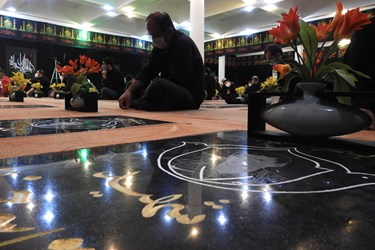 عکس| شهدای لاهیجان میزبان عزاداران حسینی