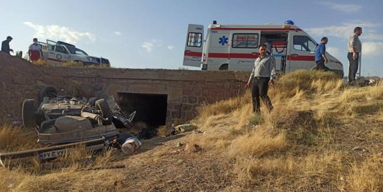 تصادف مرگبار پژو ۴۰۵ و نیسان در محور یاسوج_شیراز