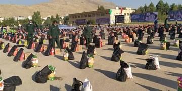 تداوم کمکهای مومنانه/ توزیع ۱۸ هزار بسته معیشتی توسط سپاه ثارالله(ع) شیراز