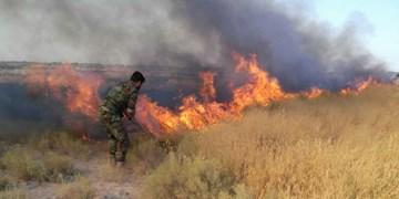 مهار آتش در ارتفاعات بیل بخش ارژن