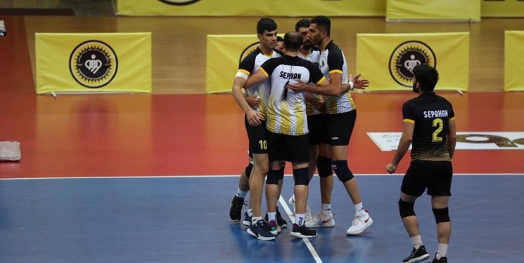 لیگ برتر والیبال  دومین پیروزی سپاهان در مریوان رقم خورد