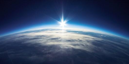 چشم اندازی از زمین از ایستگاه فضایی بینالمللی