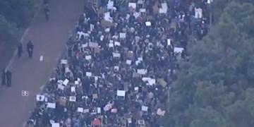 تظاهرات علیه خشونت پلیس آمریکا در «کارولینای شمالی»