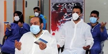 قرائت زیارت عاشورا  در بخش کرونایی بیمارستان امام اردبیل/ همه آرزویشان سلامتی مردم است