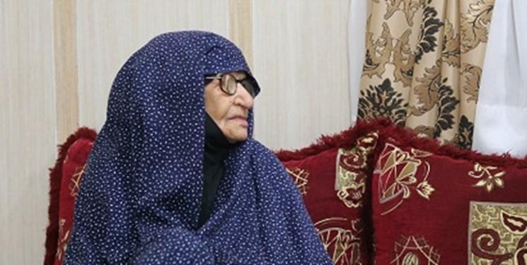 مادر شهیدان رضا و حسین رایکا آسمانی شد
