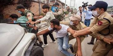 عکس| حمله پلیس هند به عزاداران حسینی در کشمیر