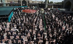 فیلم|عزاداری عاشورای حسینی در حرم حضرت معصومه(س)