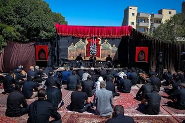 موکب الزهرای تبریز -عزاداری روز عاشورا در خیابان های تبریز