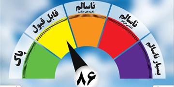 کیفیت هوای منطقه شهید آوینی مشهد در شرایط ناسالم قرار گرفت