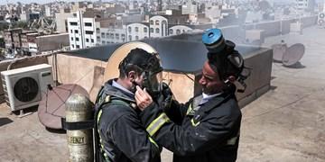 مهار آتش در یک مجتمع مسکونی در اهواز