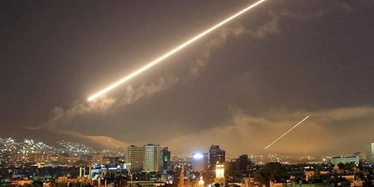 مقابله پدافند هوایی سوریه با اهداف متخاصم در نزدیکی حلب