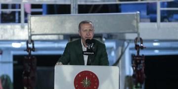 اردوغان: اجازه راهزنی و دزدی دریایی در مدیترانه را نمیدهیم