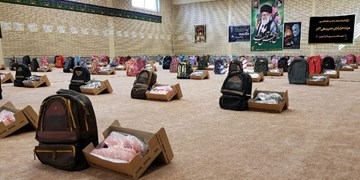 کمک مؤمنانه| توزیع ۱۵۶۰ بسته نوشتافزار در استان اردبیل