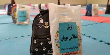 کمک مؤمنانه| توزیع ۶۰۰ بسته نوشتافزار در استان اردبیل