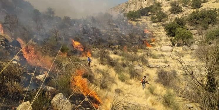 مهار حریق در منطقه چاهبند شهرستان نیریز