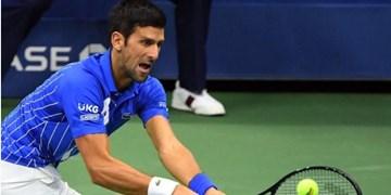تنیس آزاد رم| عصبانیت جوکوویچ این بار با شکستن راکت +عکس