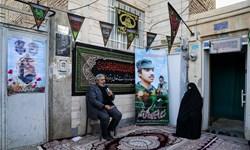 روضهی خانگی درمقابل منزل شهید حسین مالکینژاد