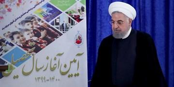 کنایه مجری شبکه خبر به چکش غیر حضوری روحانی! + فیلم